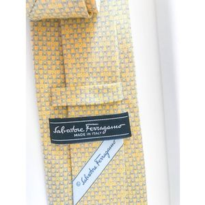 Salvatore Ferragamo Silk Yellow Signature Tie